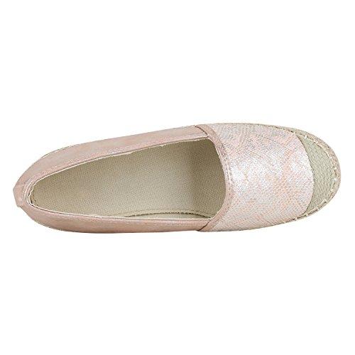 Pantofole Da Donna Metallico Espadrillas Bastonatura Profilo Sole Scarpe Estive Scarpe Denim Stampa Scarpe Fiori Glitter Scarpe Jennika Rosa Rosa