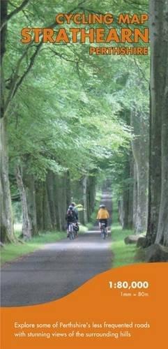 Cycling Map Strathearn Perthshire por Harvey Map Services Ltd.