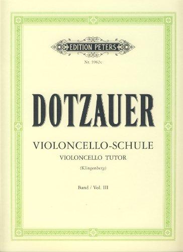 DOTZAUER - Method Vol.3 para Violoncello (Klingenberg)