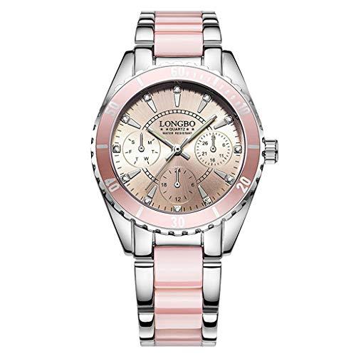 XZDCDJ Damen Uhr Armbanduhr Bracelet Jungen Uhr Marken Mode Uhr Frauen Luxuskeramik und Legierungs Armband Armbanduhr B 215