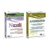Bioserum - Pack Ansiomed 45 Cápsulas + Nervolit 40 Cápsulas - Regula de forma natural tu estado de animo y sistema nervioso
