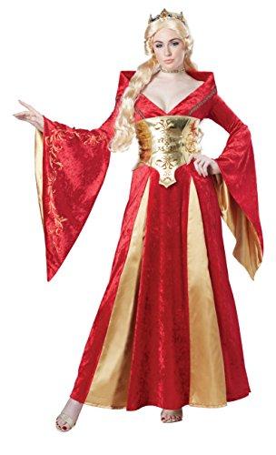 Mittelalterliche Königin-Damenkostüm XS (Cersei Lannister Kostüm)