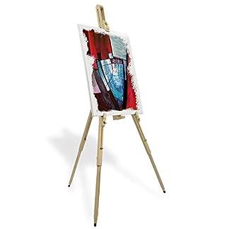 Artina Málaga – Caballete de pintura de campo de madera maciza – Transportable, ligero y muy estable
