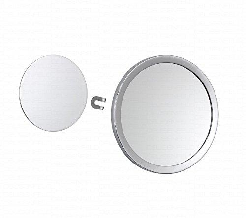 DEUSENFELD KM5C - Kosmetikspiegel selbstklebend / magnetisch abnehmbar, magnetischer Rasierspiegel,...