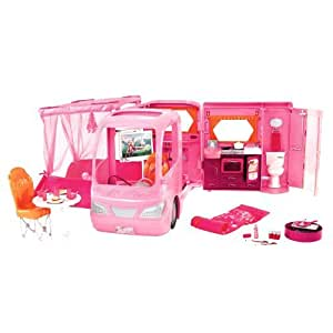 barbie p3599 accessoire poup e camping car rose barbie jeux et jouets. Black Bedroom Furniture Sets. Home Design Ideas
