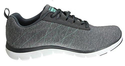 Skechers Damen Flex Appeal 2.0 High Energy Low-Top Charcoal/White