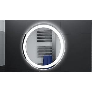 Badspiegel Designo Rund MAR111 mit A++ LED Beleuchtung - 50 cm - Made in Germany - TIEFPREISGARANTIE
