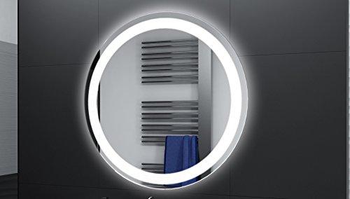 Badspiegel Designo Rund MAR111 mit A++ LED Beleuchtung - 60 cm - Made in Germany - TIEFPREISGARANTIE