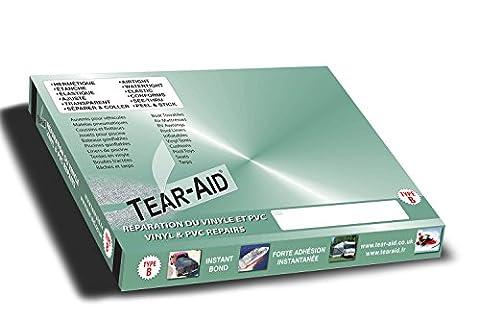 Tear-Aid® Type B - Bande de 15 cm x 30 cm pour la réparation instantanée de vinyles et de PVC