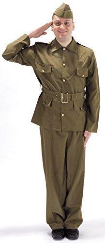 2 Britische Armee Militär Soldat 1940s Bürgerwehr Kostüm Kleid Outfit (Kostüm Von 1940)