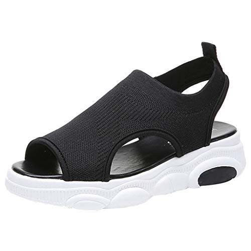 Dorical Pantofole per Gli retrò con Fondo Spesso Traspirante Ciabatte da Donna Sandali Summer Fish Muffin Sandali con Fondo Spesso Open Toe Shoes
