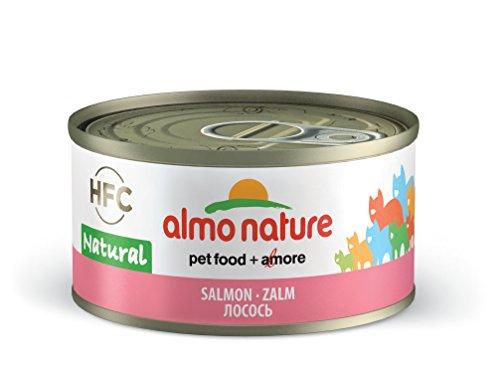 Almo Nature HFC Nourriture au Chat Humide Naturelle avec Saumon (Boîte de 24 boîtes de 70 g)