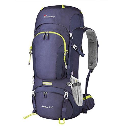 Imagen de mountaintop 60l  de senderismo impermeable multifuncio / trekking / escalada  /  de camping /  de viaje con cubierta de lluvia 81 x 32 x 23 cm