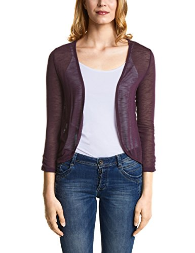 Street One Damen Strickjacke 312066 Gesa, Violett (Mystique Berry 11422), 44