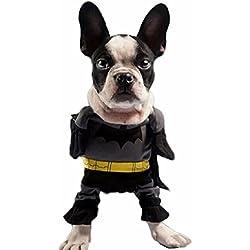Disfraz de Batman para hombre murciélago para perro y gato (S)