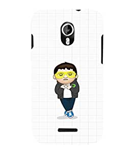 EPICCASE Cool Guy with goggles Mobile Back Case Cover For Micromax Canvas Magnus A117 (Designer Case)