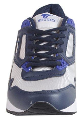 Aiyras - Sneakers Donna Con Sneakers Ammortizzanti Scarpe Sportive Scarpe Da Corsa Runner Allenamento Fitness Da Jogging Cross Colori Diversi 36 37 38 39 40 41 Blu