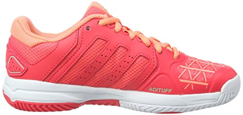 adidas Barricade Club, Scarpe da Tennis Unisex – Bambini Rosso (Shock Red/Platin Met./Sun Glow)