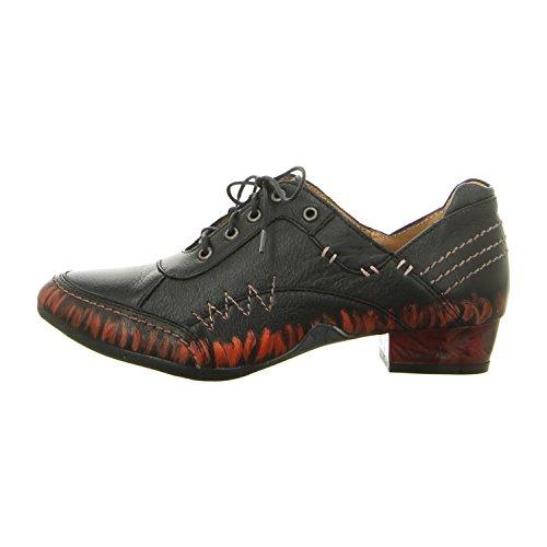 Maciejka  02375-01/00-5, Chaussures de ville à lacets pour femme czarny
