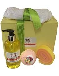 Spa Pomponner Boîte Cadeau été Agrume avec Huile De Massage, Savon & Bombe De Bain