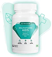 Trizen Multivitamin Kids - Supplements for healthy growth & development in children, 60 Chewable Tablets,