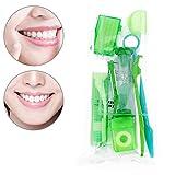 QYWSJ 9 Piezas de Cepillo de Dientes, Kit de Cuidado Bucal, Kit de Viaje de Ortodoncia, Cera Dental, Hilo Dental, ProteccióN de Soporte para Espejo, Uso de Viaje de Kit de Cuidado Diario