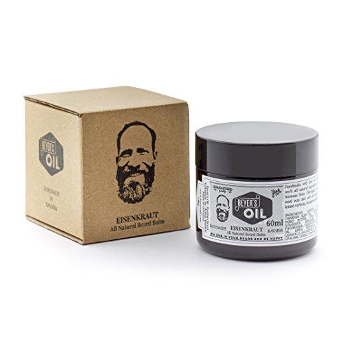 Beyer\'s Oil Beard Balm Eisenkraut 60ml - Bartpflege Balsam - Handgemacht in Bayern - 100{e384c980853a82ef3f47ae53ff1b56fdc5d7fcb1bedac4fbcb8e5244d9e4f68e} natürlich - Mit Bienenwachs aus dem Chiemgau - Pflegt die Haut, macht den Bart weich und glatt