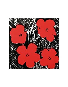 Reproduction d'art 'Flowers, c.1964 (Red)', de Andy Warhol, Taille: 28 x 36 cm