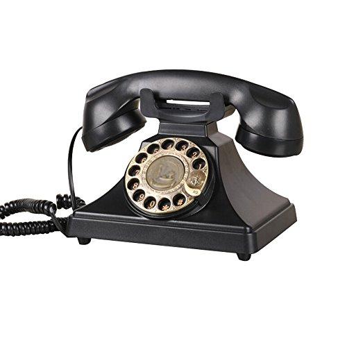 Wählscheibe Telefon Vintage Telefon Classic Schreibtisch Telefon mit Wählscheibe-Schwarz ()