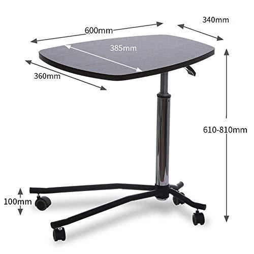 Sed multifunzione piccolo tavolo famiglia portatile scrivania carrello proiettore stand regolabile in altezza laptop stand ospedale scrivania camera da letto semplice tavolo di studio,noce nera
