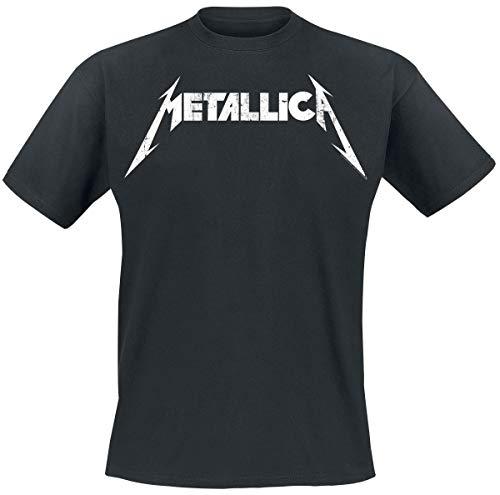 Metallica Textured Logo Camiseta Negro L