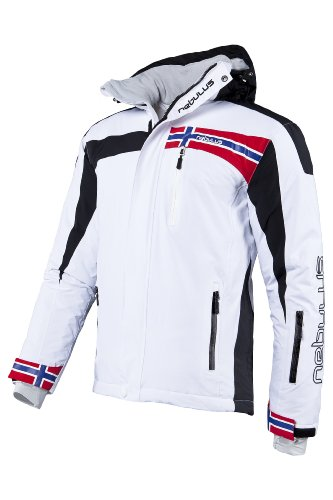 Nebulus Men's High End Platinum Freestyle Ski/Snowboard/Winter Jacket - White, Large