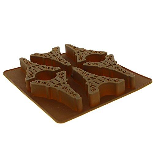 Landmark Tablett für Jello, homemaden Eis, Süßigkeiten, Schokolade, Gummy, und mehr Eiffel Tower schokoladenbraun ()