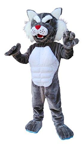 CostumeShine Power Bobcat Wildcat Maskottchen, Erwachsenengröße, Unisex-Erwachsene (nur Gepäck), Siehe Abbildung, Medium: 5'7