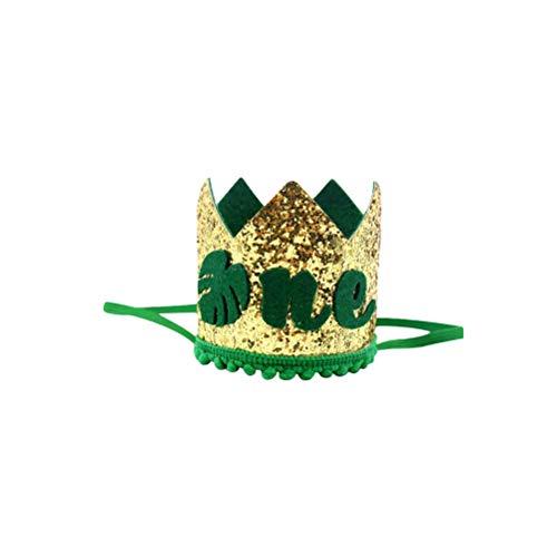 . Geburtstag Krone Hut Karneval Dschungel Motto 1. erste Geburtstagsfeier begünstigt Lieferungen Dekorationen 8 x 8 x 8 cm ()