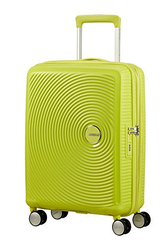 AMERICAN TOURISTER Soundbox - Spinner 55/20 Expandable Bagaglio a mano, 55 cm, 35.5 liters, Verde (Tropical Lime)