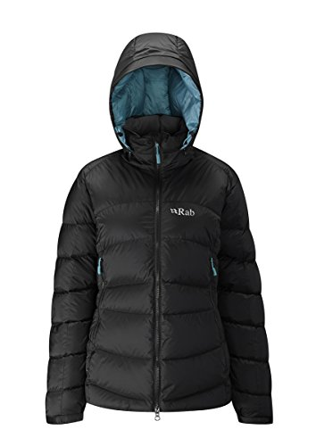 RAB WOMENS ASCENT JACKET BLACK/SEAGLASS (UK SIZE 16) (Jacket Ascent Womens)