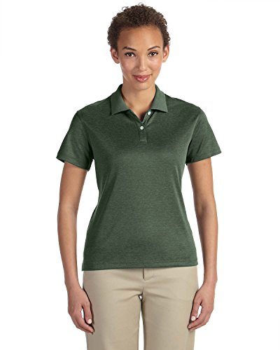 Devon Jones Tech & DG210W Pima-Polo da donna FOREST HEATHER