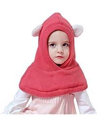 Arcweg Chapeaux Hiver pour Garçons Filles Thermique en Tricoté Coupe-Vent Cagoule  Enfants Bonnet avec df6e5c46aab