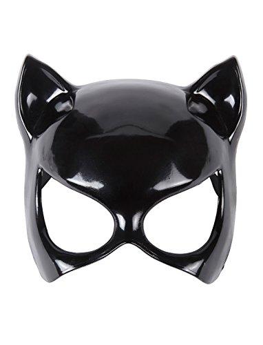 Maske Katze schwarz keine Größe (Catwoman Maske Halloween)