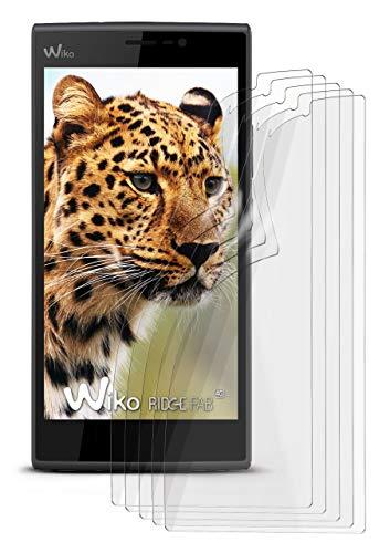 5X Wiko Ridge Fab 4G | Schutzfolie Matt Bildschirm Schutz [Anti-Reflex] Screen Protector Fingerprint Handy-Folie Matte Bildschirmschutz-Folie für Wiko Ridge Fab 4G Bildschirmfolie