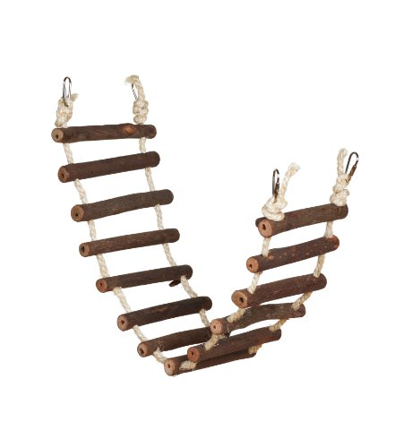 Prevue Hendryx 62807 Naturals Rope Ladder Bird Toy, Large 1