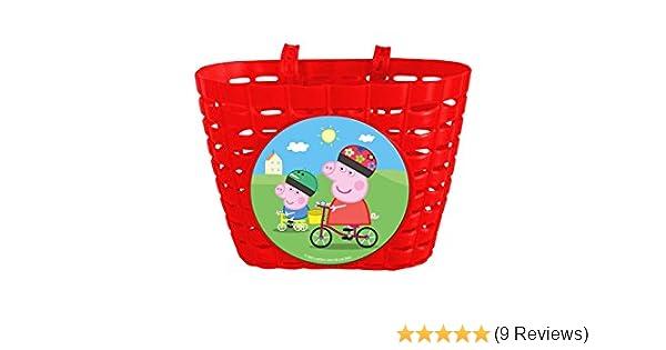 Peppa Pig Fahrradkorb Für Kinderfahrräder Mit 2 Laschen Rot 70204