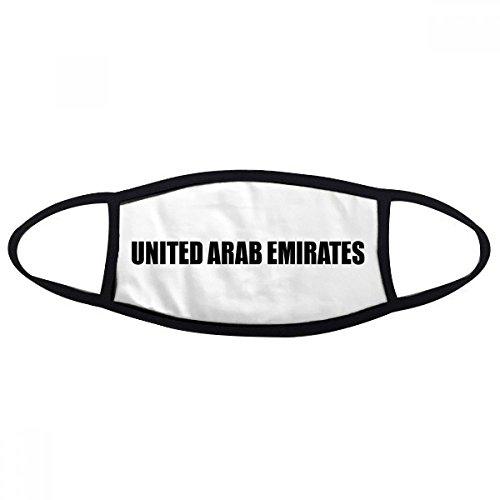 DIYthinker Emiratos Árabes Unidos Nombre Boca Cara máscara anti-polvo anti fría caliente del regalo del algodón lavable