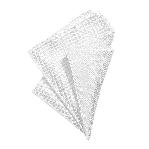 DonDon Pañuelos de bolsillo hombre de 21 x 21 cm para ocasiones especiales - Blanco
