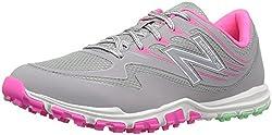 New Balance Womens nbgw1006 Golf Shoe, Grey/Pink, 8.5 B US