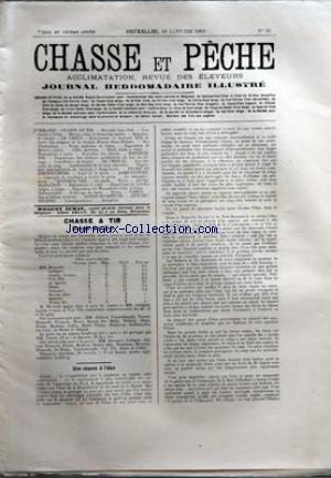 CHASSE ET PECHE [No 16] du 18/01/1903 - CHASSE ET TIR - BRUSSELS GUN CLUB - UNE CHASSE A L'ELAN - TURBIT BLEU MALE