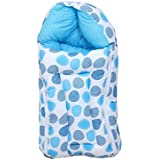 RBC RIYA R Baby Sleeping Bag Cum Baby Carry Bag (Blue Dot, 0-6 Months)
