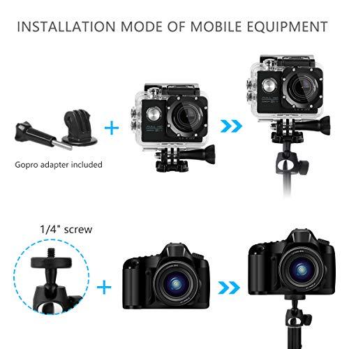 con Obturador Remoto inal/ámbrico Compatible con iPhone X//8//8P//7//7P//6S//6P Extensible con Bluetooth Galaxy S9//S9 Plus//S8//S7//S6//S5//Note 8 QZY Tr/ípode para Selfie de 40 Pulgadas Google y m/ás