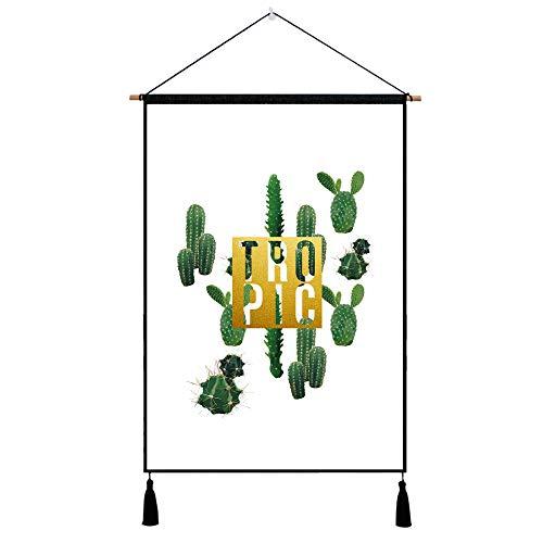 mmzki Pflanze Hintergrund Tuch Meter Box Cover Tuch Baumwolle Leinen Kunst Malerei 19 45X65CM